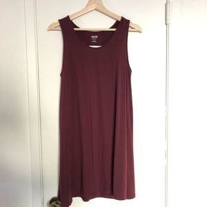 Mossimo maroon basic dress
